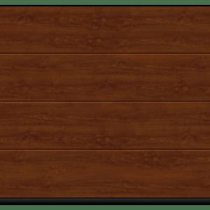 Brama segmentowa LPU40 Decograin Dark Oak 2440x2205 pasy L